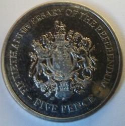 Moneta > 5pence, 2017 - Gibilterra  (50° anniversario del referendum) - reverse