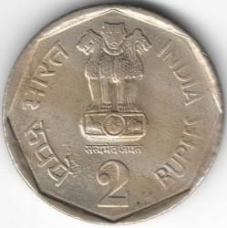 Монета > 2рупии, 1990 - Индия  - obverse