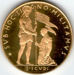 Νόμισμα > 5Σκούδα, 1968 - Κυρίαρχο Στρατιωτικό Τάγμα της Μάλτας  - reverse