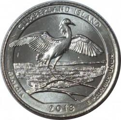 Монета > ¼долара, 2018 - США  (Національне узбережжя острова Камберленд) - reverse