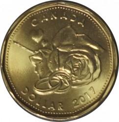 Moneda > 1dólar, 2017 - Canadá  (Boda) - reverse