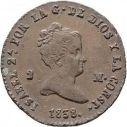 Moneta > 2maravedis, 1836-1858 - Hiszpania  - obverse