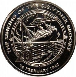 Moneta > 20centesimi, 2017 - Australia  (75th Anniversary - Sinking of the S.S. Vyner Brooke) - reverse
