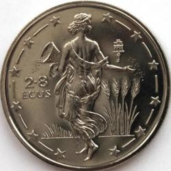 Coin > 2.8ECUs, 1994 - Gibraltar  (Mythology - Europa) - reverse
