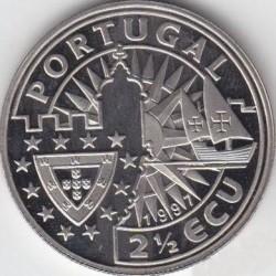 Монета > 2½ЕКЮ-та, 1997 - Португалия  (Europe and the New World - Fernan Magellan ) - obverse
