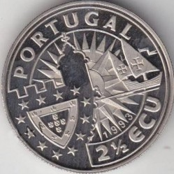 Монета > 2½ЕКЮ-та, 1993 - Португалия  (Europe and the New World - Bartolomeu Dias) - reverse