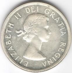 Minca > 1dolár, 1953-1963 - Kanada  - obverse