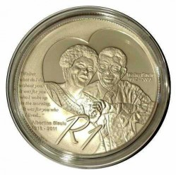 Moeda > 1 rand, 2012 - África do Sul  (Walter and Albertina Sisulu) - obverse
