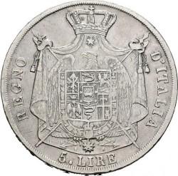 Moneta > 5lirów, 1812 - Włochy  - reverse