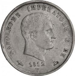 Монета > 5лір, 1812 - Італія  - obverse