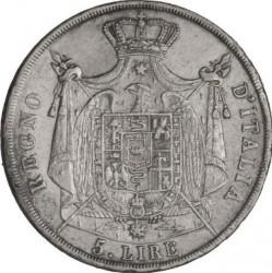 Монета > 5лір, 1812 - Італія  - reverse