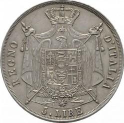 Монета > 5лір, 1807-1814 - Італія  - reverse