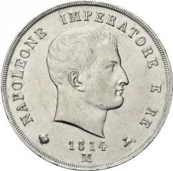 Монета > 5лір, 1807-1814 - Італія  - obverse