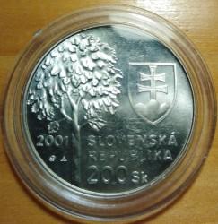 Moneta > 200corone, 2001 - Slovacchia  (80° anniversario - Nascita di Alexander Dubček) - obverse