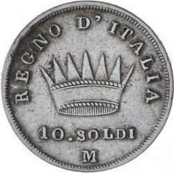 Монета > 10сольдо, 1808-1814 - Італія  - reverse