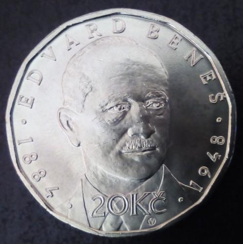 20 Kronen 2018 Edvard Beneš Tschechische Republik Münzen Wert