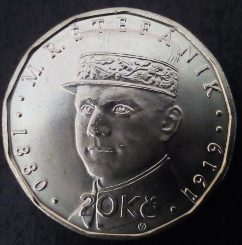 20 Kronen 2018 Milan Rastislav štefánik Tschechische Republik