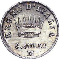 Монета > 5сольдо, 1808-1814 - Італія  - reverse