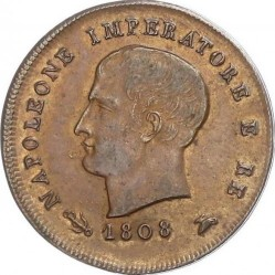 Moneta > 3čentezimai, 1807-1813 - Italija  - obverse