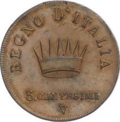 Moneta > 3čentezimai, 1807-1813 - Italija  - reverse