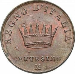 Монета > 1чентезимо, 1807-1813 - Італія  - reverse