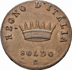 Монета > 1сольдо, 1807-1813 - Італія  - reverse