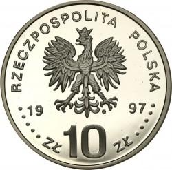 Moneda > 10zlotych, 1997 - Polonia  (Polish Kings and Princes - Stefan Batory (1576-1586) /big portait/) - obverse