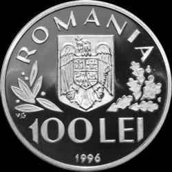Moneta > 100lei, 1996 - Romania  (50° anniversario - UNICEF) - obverse