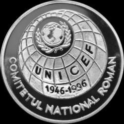 Moneta > 100lei, 1996 - Romania  (50° anniversario - UNICEF) - reverse