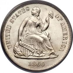 Монета > ½дайма, 1860-1873 - США  (Сидящая Свобода) - obverse