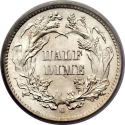 Монета > ½дайма, 1860-1873 - США  (Сидящая Свобода) - reverse