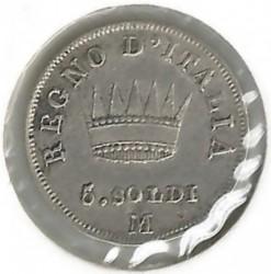 سکه > 5سولدی, 1808-1814 - ایتالیا  - obverse