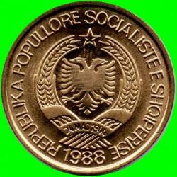 سکه > 1لک, 1988 - آلبانی  (آلومینیوم - برنز (زرد رنگ)) - reverse