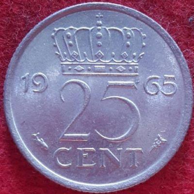 25 Cent 1965 Niederlande Münzen Wert Ucoinnet