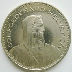 Moneta > 5franków, 1987 - Szwajcaria  - obverse