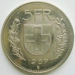 Moneta > 5franków, 1987 - Szwajcaria  - reverse