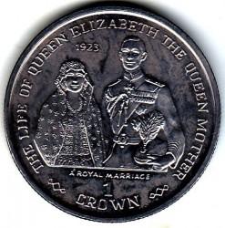 Moneta > 1corona, 1999 - Gibilterra  (La vita della Regina madre - Matrimonio reale 1923) - reverse