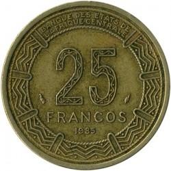 Coin > 25francs, 1985 - Equatorial Guinea  - obverse