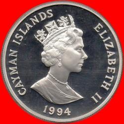 Moneta > 1dollaro, 1994 - Cayman (Isole)  (94° anniversario - Nascita della regina Madre) - obverse