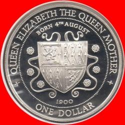 Moneta > 1dollaro, 1994 - Cayman (Isole)  (94° anniversario - Nascita della regina Madre) - reverse