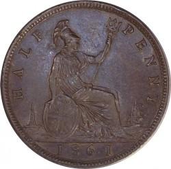 Moneda > ½penny, 1860-1873 - Regne Unit  - reverse