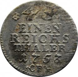 Moneda > 1/48taler, 1753-1757 - Prusia  - reverse