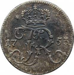 Pièce > 1/24 thaler, 1753-1763 - Prusse  (Date on obverse devided by monogram) - obverse