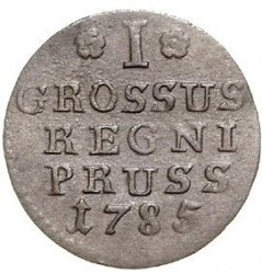Moneta > 1grosz, 1771-1786 - Prusy  - reverse
