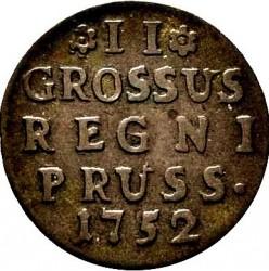 Moneta > 2grosze, 1752-1753 - Prusy  (II GROSSUS) - reverse
