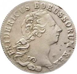 Moneda > ⅙reichsthaler, 1764-1778 - Prusia  - obverse