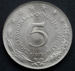 Münze > 5Dinar, 1976 - Jugoslawien  - reverse