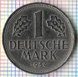 Coin > 1 mark, 1954 - Germany  - obverse
