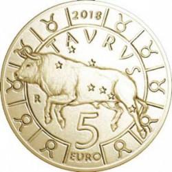 Moneta > 5euro, 2018 - San Marino  (Segno dello zodiaco - Toro) - reverse