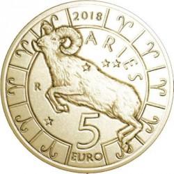 Moneda > 5euros, 2018 - San Marino  (Zodiac Signs - Aries) - reverse
